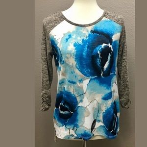 Style Co Womens Mixed Media Pullover Top